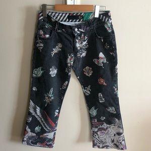 Roberto cavalli women's ankle vintage jeans